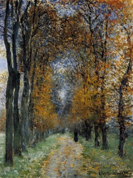 Claude Monet Painting - The Avenue Claude Monet